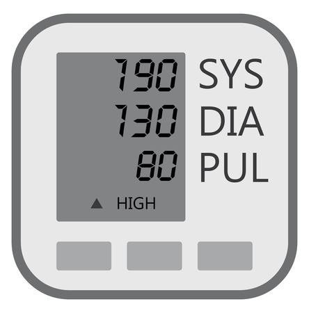 Display lcd of blood pressure machine show indicator of result Vector Illustration