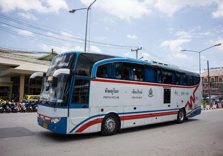 Chiangmai, Thailand - August 8 2018: Vintour company bus. Route Phitsanulok and Chiangmai. Photo at Chiangmai bus station.