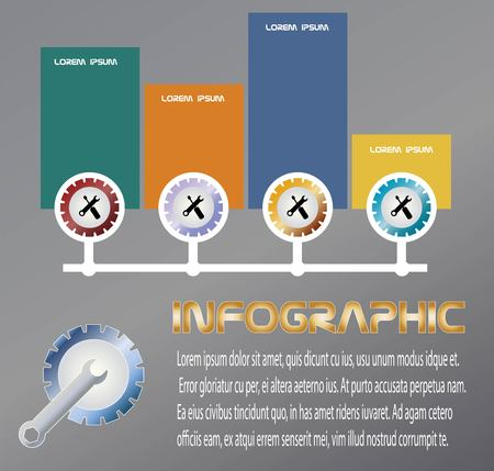 Vector and Illustration Mechanical Engineering Infographic design for business concept