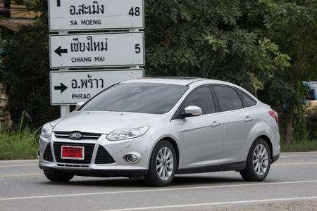 Chiangmai, Thailand - August  3 2018: Private car, Ford Focus. Photo at road no 121 about 8 km from downtown Chiangmai, thailand. Redactioneel