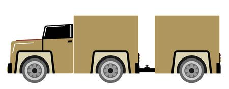 vintage old Pick up truck vector and illustration