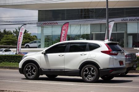 Chiangmai, Thailand - September 11 2018: Private Car Honda CRV City Suv Car. On road no.1001 8 km from Chiangmai city.