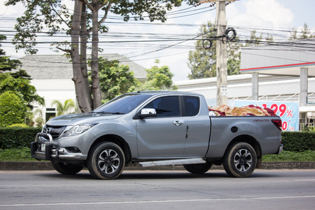 Chiangmai, Thailand - September 11 2018: Private Pick up, Mazda BT50. Photo at road no.121 about 8 km from downtown Chiangmai, thailand.