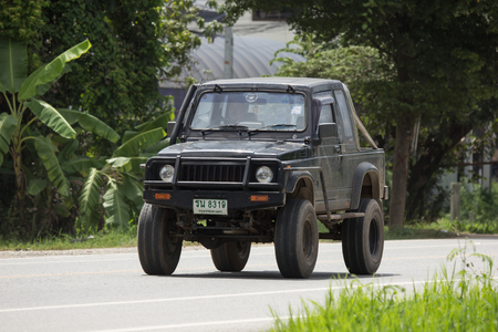 Chiangmai, Thailand - August  7 2018: Private car, Suzuki Caribian. Photo at road no.1001 about 8 km from downtown Chiangmai, thailand. Redactioneel
