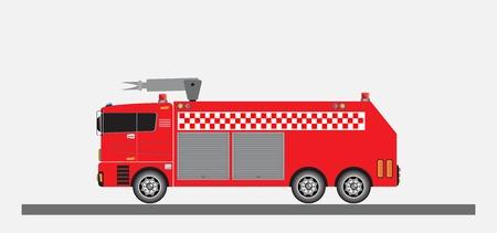 Aeroporto camion dei pompieri vettoriale e illustrazione