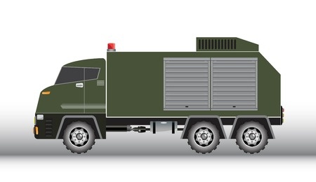 Military truck vector and illustration on white background