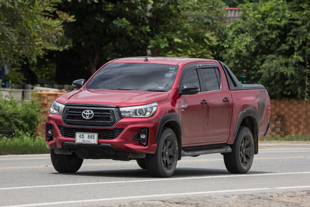 Chiangmai, Thailand - September 1 2018: Private Pickup Truck Car New Toyota Hilux Revo  Rocco. On road no.1001, 8 km from Chiangmai city. Editorial