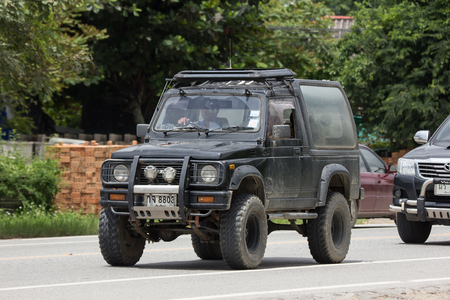 Chiangmai, Thailand - September 1 2018: Private car, Suzuki Caribian. Photo at road no.1001 about 8 km from downtown Chiangmai, thailand. Redactioneel