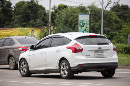 Chiangmai, Thailand - September 6 2018: Private car, Ford Focus. Photo at road no 121 about 8 km from downtown Chiangmai, thailand.