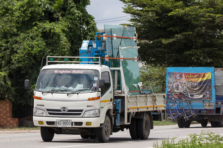 Chiangmai, Thailand - September 10 2018: Private Hino  Cargo Truck. Photo at road no.1001 about 8 km from downtown Chiangmai, thailand. Editorial