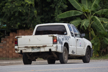Chiangmai, Thailand - September 10 2018: Private Pick up,Old Mazda BT2500. Photo at road no.121 about 8 km from downtown Chiangmai, thailand.