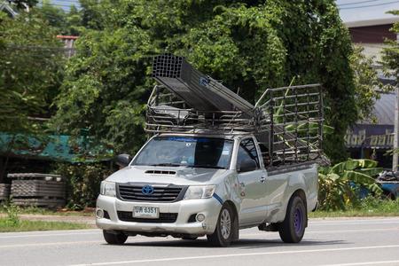 Chiangmai, Thailand - September 10 2018: Private Toyota Hilux Vigo  Pickup Truck.  On road no.1001 8 km from Chiangmai city.