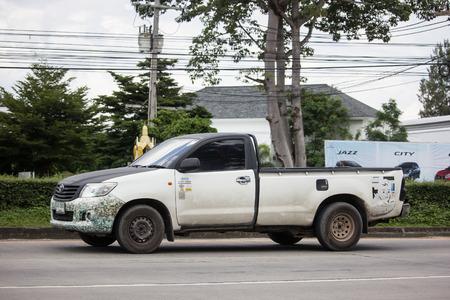 Chiangmai, Thailand - September 20 2018: Private Toyota Hilux Vigo  Pickup Truck.  On road no.1001 8 km from Chiangmai city.
