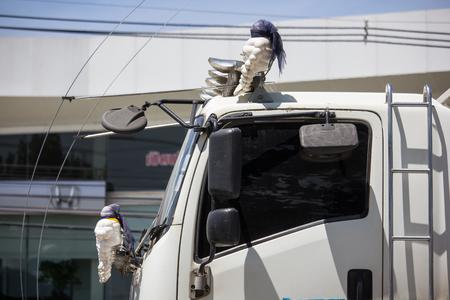 Chiangmai, Thailand - September 21 2018: Private Isuzu Dump Truck. On road no.1001 8 km from Chiangmai Business Area.