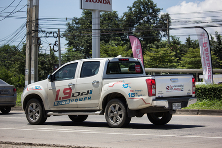 Chiangmai, Thailand - September 21 2018: Private Isuzu Dmax Pickup Truck. On road no.1001 8 km from Chiangmai city.