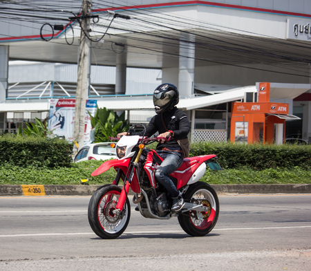 Chiangmai, Thailand - September 24 2018: Private Racing Honda CRF250 Motorcycle. Photo at road no.121 about 8 km from downtown Chiangmai, thailand.