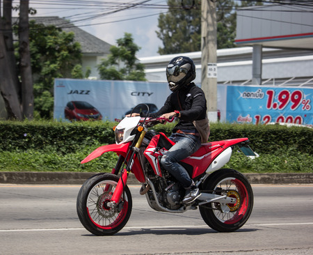 Chiangmai, Thailand - September 24 2018: Private Racing Honda CRF250 Motorcycle. Photo at road no.121 about 8 km from downtown Chiangmai, thailand. Editorial