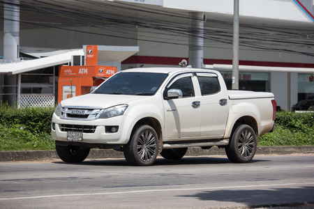 Chiangmai, Thailand - September 24 2018: Private Isuzu Dmax Pickup Truck. On road no.1001 8 km from Chiangmai city. Editorial
