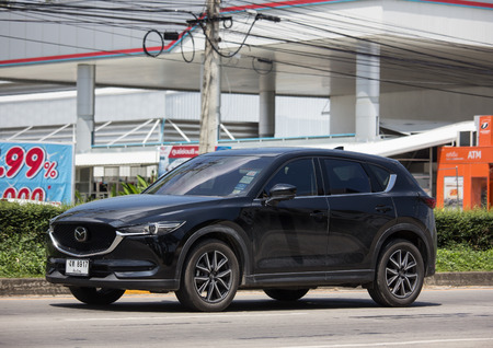 Chiangmai, Thailand - September 24 2018: Private car, Mazda CX-5,cx5. On road no.1001, 8 km from Chiangmai Business Area.