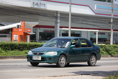 Chiangmai, Thailand - September 24 2018: Private  Honda City Compact car. Produced by the Japanese manufacturer Honda. Photo at road no.121 about 8 km from downtown Chiangmai, thailand. Redakční