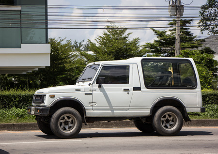 Chiangmai, Thailand - September 25 2018: Private car, Suzuki Caribian. Photo at road no.1001 about 8 km from downtown Chiangmai, thailand.