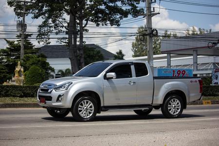 Chiangmai, Thailand - September 27 2018: Private Isuzu Dmax Pickup Truck. On road no.1001 8 km from Chiangmai city.