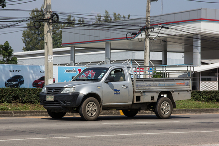 Chiangmai, Thailand - October 5 2018:  Private Tata Xenon  Pickup truck. Photo at road no 121 about 8 km from downtown Chiangmai, thailand. Editoriali