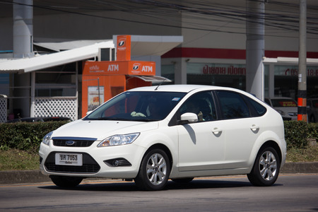 Chiangmai, Thailand - September 28 2018: Private car, Ford Focus. Photo at road no 121 about 8 km from downtown Chiangmai, thailand.