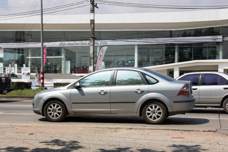 Chiangmai, Thailand - October 5 2018: Private car, Ford Focus. Photo at road no 121 about 8 km from downtown Chiangmai, thailand. Redactioneel