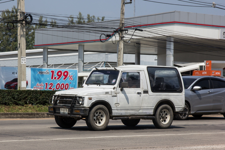 Chiangmai, Thailand - October 5 2018: Private car, Suzuki Caribian. Photo at road no.1001 about 8 km from downtown Chiangmai, thailand. Redactioneel