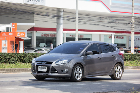 Chiangmai, Thailand - October 8 2018: Private car, Ford Focus. Photo at road no 121 about 8 km from downtown Chiangmai, thailand.