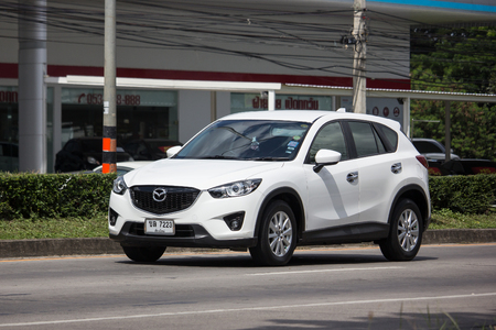 Chiangmai, Thailand - October 30 2018: Private car, Mazda CX-5,cx5. On road no.1001, 8 km from Chiangmai Business Area. Editorial