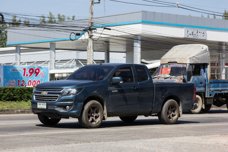 CHIANG MAI, THAILAND -JANUARY 22 2017: Private Pickup car, Chevrolet Corolado Duramax. Photo at road no 121 about 8 km from downtown Chiangmai, thailand.