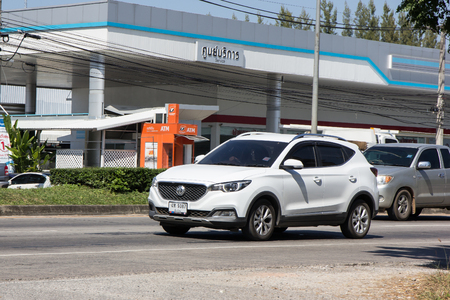 Chiangmai, Thailand - November 5 2018:  Private Suv Car MG ZS. Product from British automotive. On road no.1001, 8 km from Chiangmai city. Sajtókép