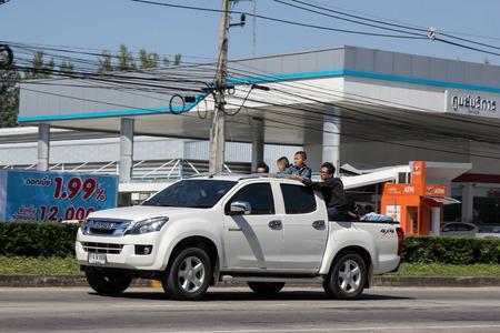 Chiangmai, Thailand - November 5 2018: Private Isuzu Dmax Pickup Truck. On road no.1001 8 km from Chiangmai city. Editorial