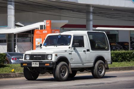 Chiangmai, Thailand - November 6 2018: Privé-auto, Suzuki Caribian. Foto bij weg nr. 1001 ongeveer 8 km van het centrum van Chiangmai, Thailand.