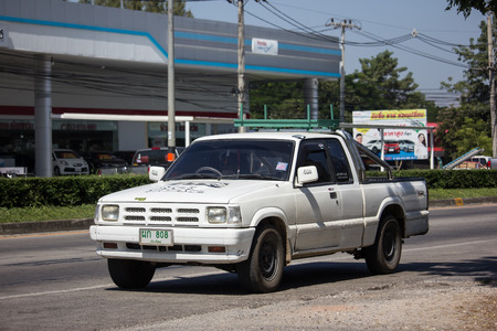 Chiangmai, Thailand - November 6 2018: Private Pick up,Old Mazda BT2500. Photo at road no.121 about 8 km from downtown Chiangmai, thailand.