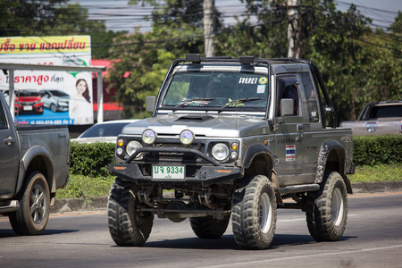 Chiangmai, Thailand - November 6 2018: Private car, Suzuki Caribian. Photo at road no.1001 about 8 km from downtown Chiangmai, thailand.