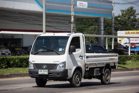 Chiangmai, Thailand - November 6 2018: Private Tata SuperACE City Giant Mini truck. On road no.1001 8 km from Chiangmai city.
