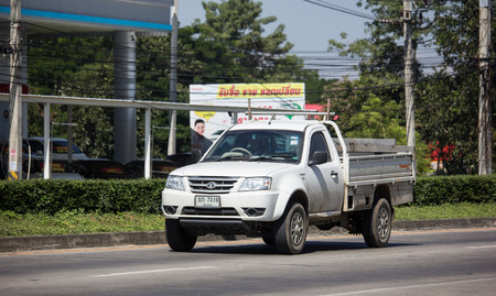 Chiangmai, Thailand - November 6 2018:  Private Tata Xenon  Pickup truck. Photo at road no 121 about 8 km from downtown Chiangmai, thailand.