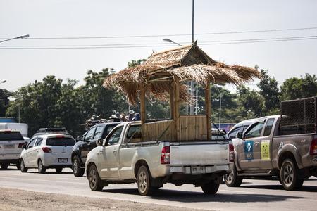 Chiangmai, Thailand - November 8 2018: Private Toyota Hilux Vigo  Pickup Truck.  On road no.1001 8 km from Chiangmai city.