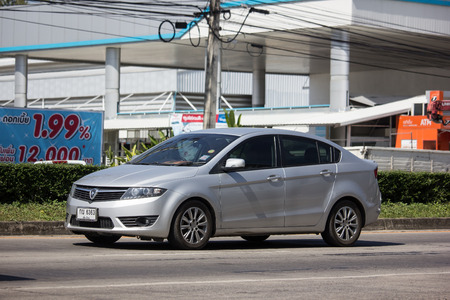 Chiangmai, Thailand - November 8 2018: Private car, Proton Preva. Photo at road no.121 about 8 km from downtown Chiangmai, thailand. Editorial