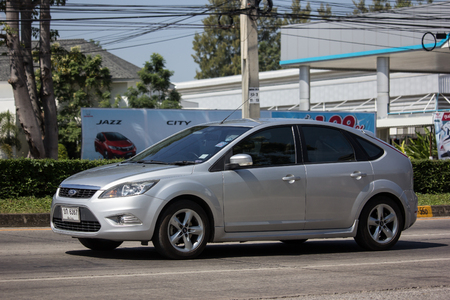 Chiangmai, Thailand - November 8 2018: Private car, Ford Focus. Photo at road no 121 about 8 km from downtown Chiangmai, thailand.
