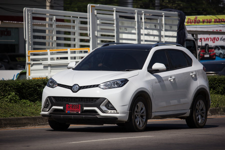 Chiangmai, Thailand - November 8 2018: Private Suv Car MG GS. Product from British automotive. On road no.1001, 8 km from Chiangmai city. Sajtókép