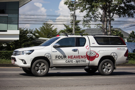 Chiangmai, Thailand - November 15 2018: Private Pickup Truck Car Toyota Hilux Revo. On road no.1001, 8 km from Chiangmai city. Editorial