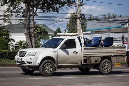 Chiangmai, Thailand - November 15 2018:  Private Tata Xenon  Pickup truck. Photo at road no 121 about 8 km from downtown Chiangmai, thailand.