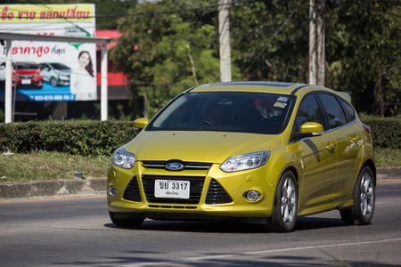 Chiangmai, Thailand - November 26 2018: Private car, Ford Focus. Photo at road no 121 about 8 km from downtown Chiangmai, thailand.