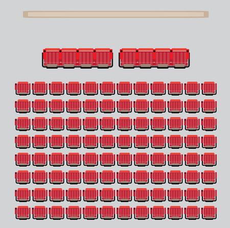 Top View show Seat in the Theater with vip Zone Vector and illustration Vector Illustratie