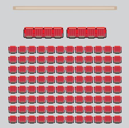 Top View Show Sitz im Theater mit VIP Zone Vector und Illustration Vektorgrafik