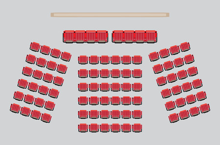 Top View show Seat in the Theater with vip Zone  Vector and illustration